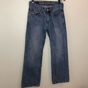 American Eagle Low Rise Bootcut Jeans Medium Wash